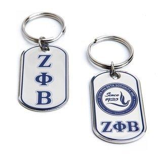 Zeta Phi Beta Reversible Key Chains