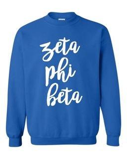 Zeta Phi Beta Script Crew Sweatshirt