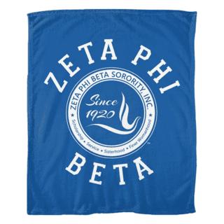 Zeta Phi Beta Seal Fleece Blanket