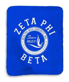 Zeta Phi Beta Seal Sherpa Lap Blanket