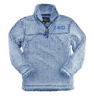 Zeta Phi Beta Sherpa Quarter Zip Pullover