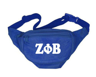 Zeta Phi Beta Sorority Big Letter Fanny Pack
