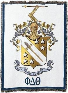 Phi Delta Theta Color Crest - Shield Afghan Blanket