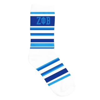 Zeta Phi Beta Striped Crew Socks