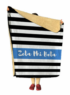 Zeta Phi Beta Stripes Sherpa Lap Blanket