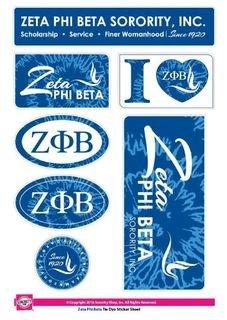 Zeta Phi Beta Tie Dye Stickers