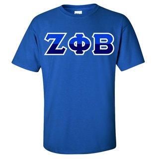 Zeta Phi Beta Two Tone Greek Lettered T-Shirt