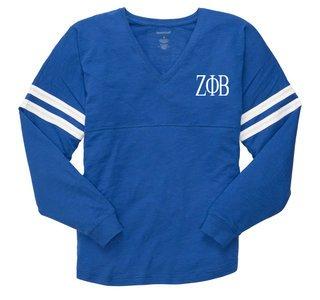 Zeta Phi Beta V-Slub Pom Pom Jersey