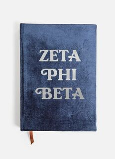 Zeta Phi Beta Velvet Notebook