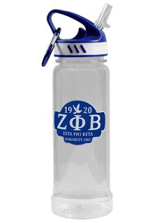 Zeta Phi Beta Water Bottle W/Carabiner Hook