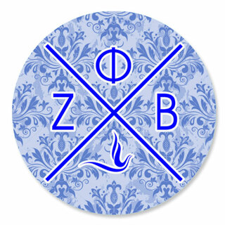 Zeta Phi Beta Well Balanced Round Decals