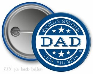 Zeta Phi Beta World's Greatest Dad Button