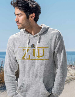 Zeta Psi Line Crest Lucas Loop Fleece Hood