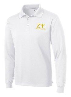 Zeta Psi- $35 World Famous Long Sleeve Dry Fit Polo