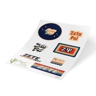 Zeta Psi 70's Sticker Sheet