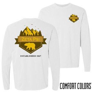 Zeta Psi Big Bear Long Sleeve T-shirt - Comfort Colors