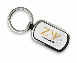 Zeta Psi Chrome Crest - Shield Key Chain