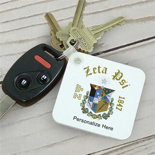 Zeta Psi Color Keychains