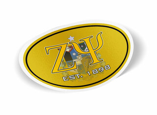 Zeta Psi Color Oval Decal