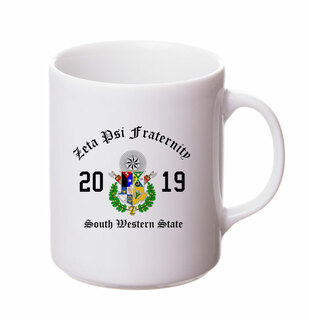 Zeta Psi Crest & Year Ceramic Mug