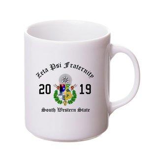 Zeta Psi Crest & Year Ceramic Mug