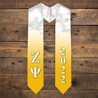 Zeta Psi Extra Fancy Greek Graduation Stole W Year