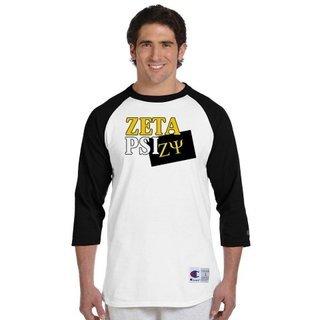 Zeta Psi Flag Champion Raglan T-Shirt