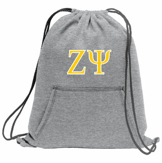 Zeta Psi Fleece Sweatshirt Cinch Pack