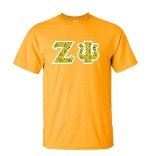 Zeta Psi Fraternity Crest - Shield Twill Letter Tee
