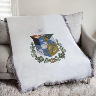 Zeta Psi Full Color Crest Afghan Blanket Throw