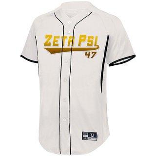 Zeta Psi Game 7 Full-Button Baseball Jersey