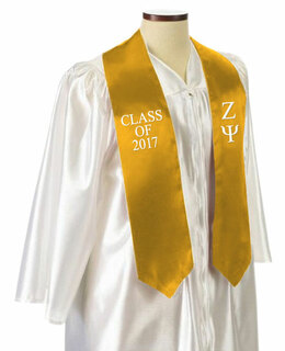 Zeta Psi Embroidered Graduation Sash Stole