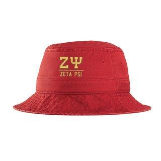 Zeta Psi Greek Letter Bucket Hat