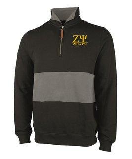 Zeta Psi Greek Letter Quad Pullover