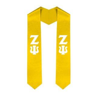 Zeta Psi Greek Lettered Graduation Sash Stole