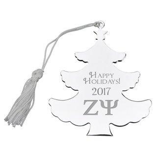 Zeta Psi Holiday Tree Shaped Ornament