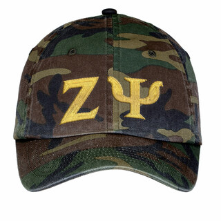 Zeta Psi Lettered Camouflage Hat