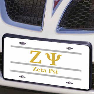 Zeta Psi Lettered Lines License Cover