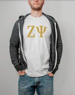 Zeta Psi Lettered Tee - $14.95!