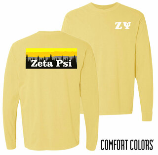 Zeta Psi Outdoor Long Sleeve T-shirt - Comfort Colors