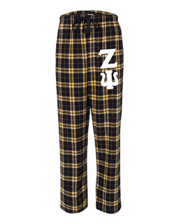 Zeta Psi Pajamas Flannel Pant