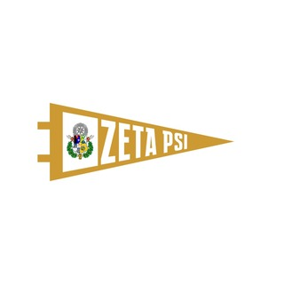 "Zeta Psi Pennant Decal 4"" Wide"