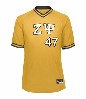 Zeta Psi Retro V-Neck Baseball Jersey