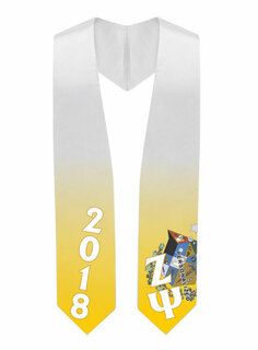 Zeta Psi Super Crest - Shield Graduation Stole