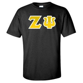 Zeta Psi Two Tone Greek Lettered T-Shirt