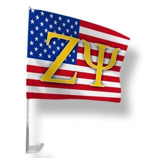 Zeta Psi USA Car Flag