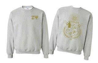Zeta Psi World Famous Crest - Shield Crewneck Sweatshirt- $25!