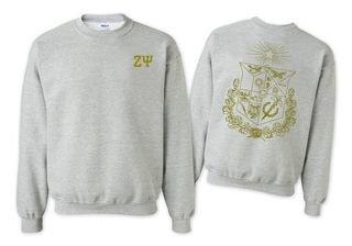 Zeta Psi World Famous Crest - Shield Printed Crewneck Sweatshirt- $25!