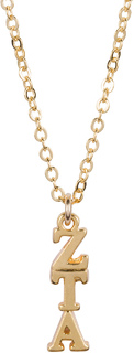 Zeta Tau Alpha 22 k Yellow Gold Plated Lavaliere Necklace - ON SALE!