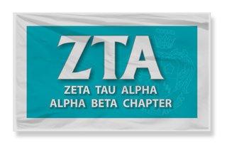 Zeta Tau Alpha 3 X 5 Flag
